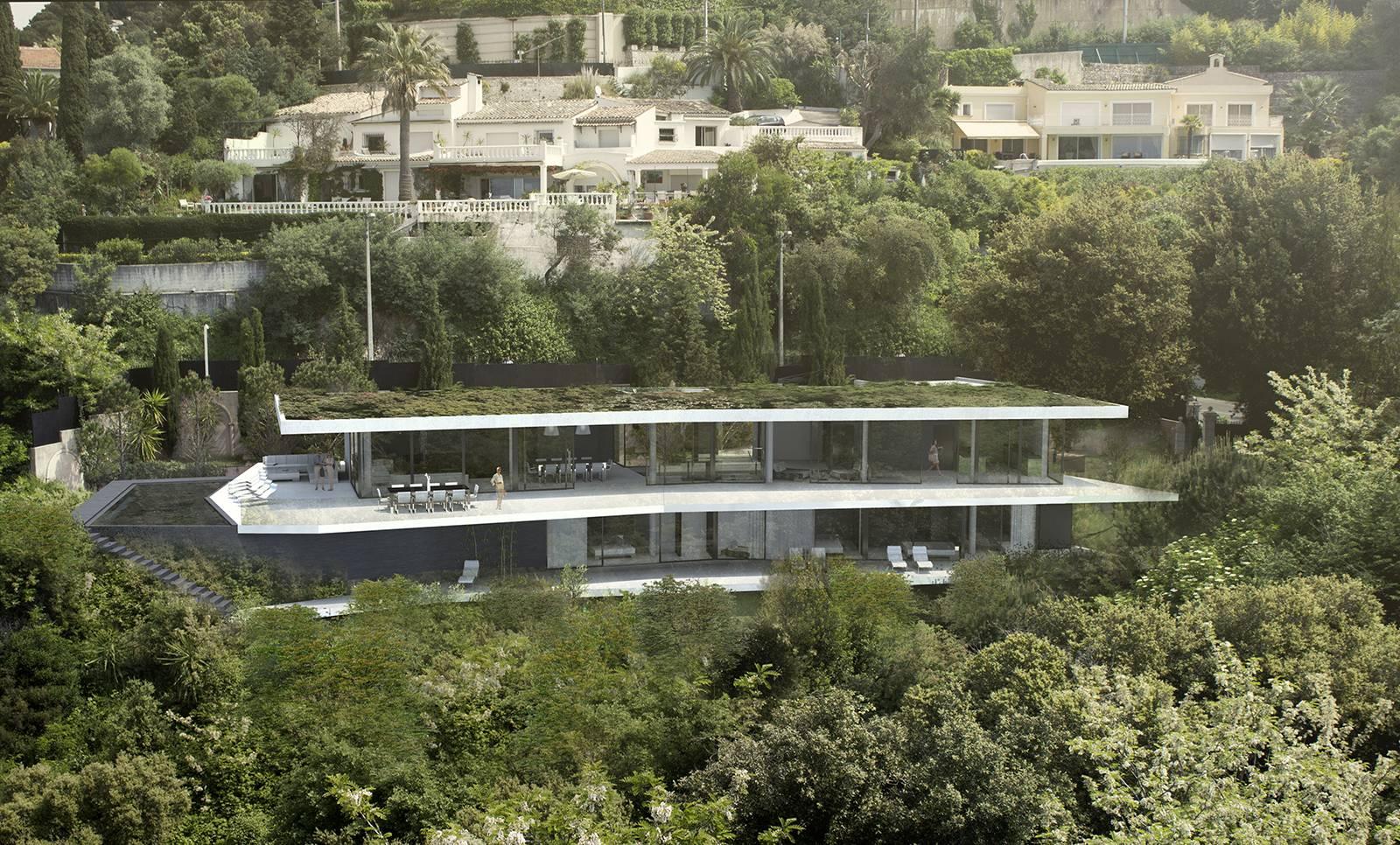 Architecte D Intérieur Cannes villa contemporaine avec vue sur cannes, la californie