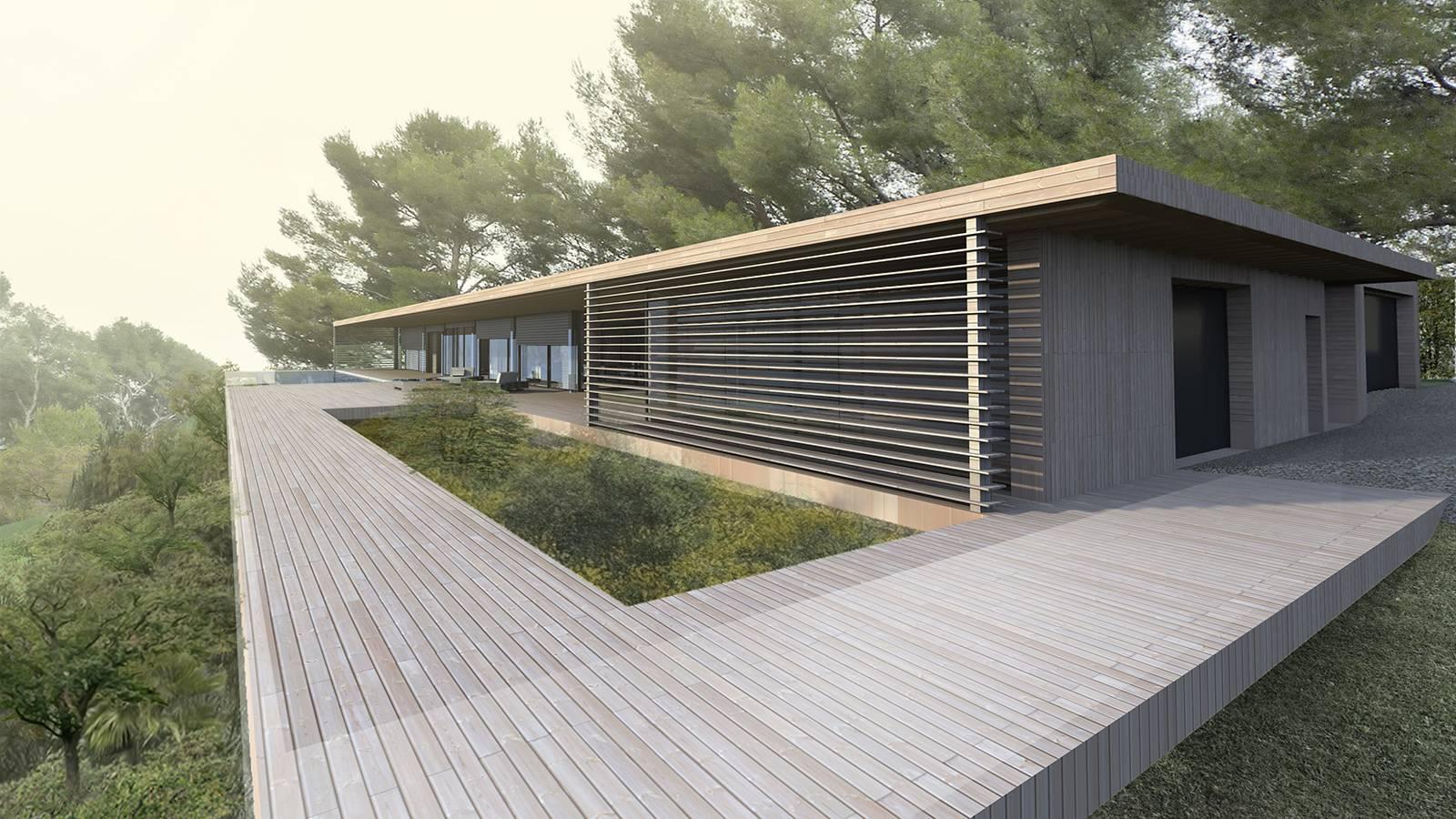 Maison Bois Contemporaine Avec Piscine Miroir A Aix En Provence Cabinet D Architecture D Interieur En Auvergne Rhone Alpes Cabinet Vielliard Francheteau Architectures