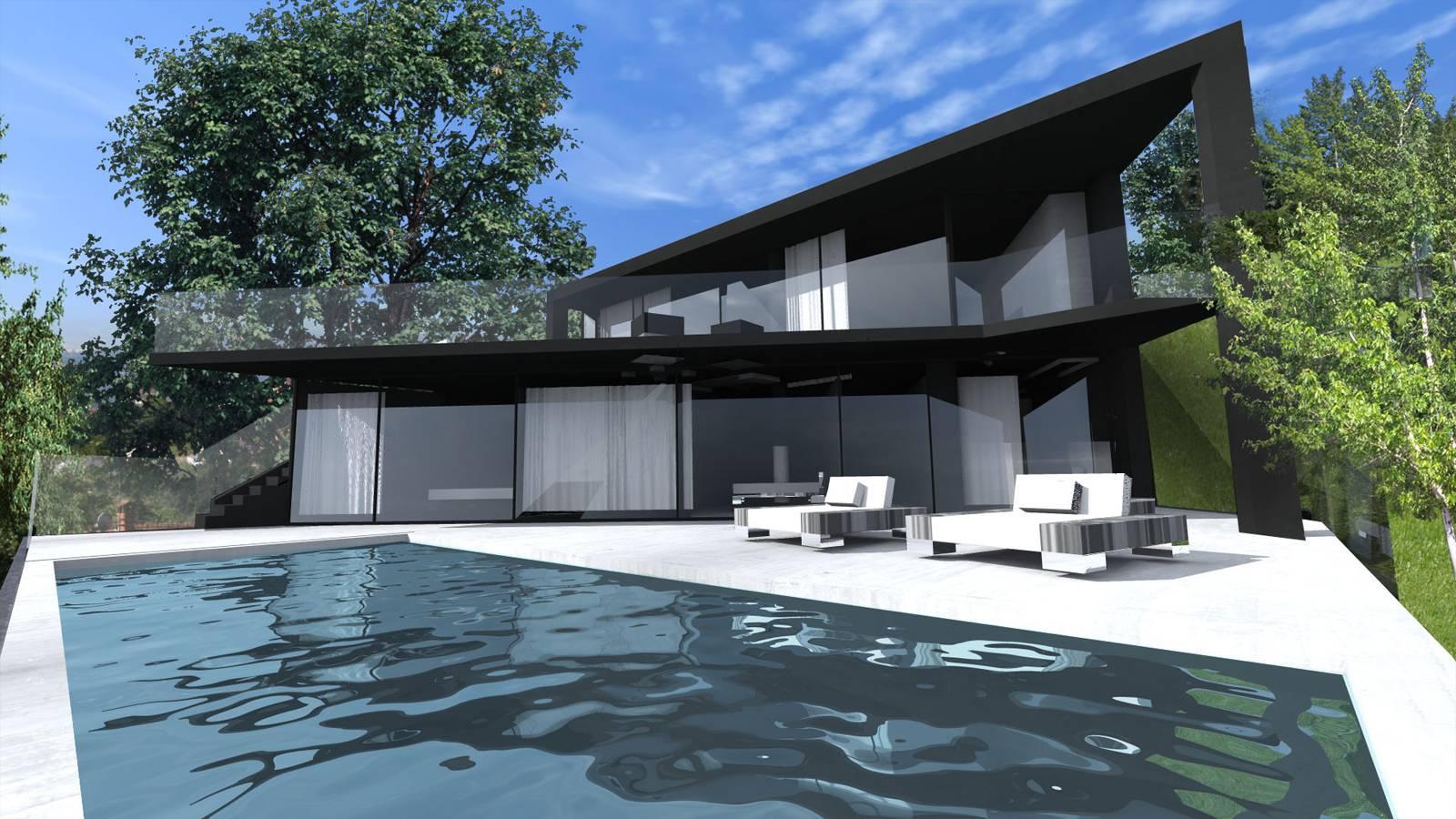 Maison Contemporaine Avec Vue Sur Le Lac D Annecy Cabinet D Architecture D Interieur En Auvergne Rhone Alpes Cabinet Vielliard Francheteau Architectures
